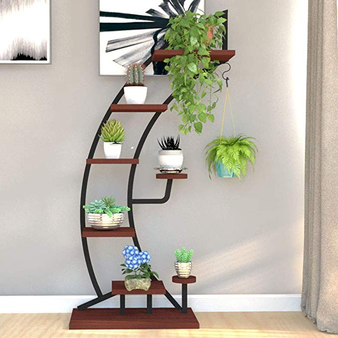 Amazon Com Ys Tall Plant Stands Indoor With Creative Shape Large Functional Iron Flower Stand Fo Tall Plant Stand Indoor Tall Plant Stands Plant Stand Indoor