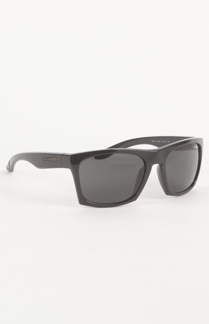 0ccdaa1d5a Arnette Dibs Polished Black Sunglasses  90.00