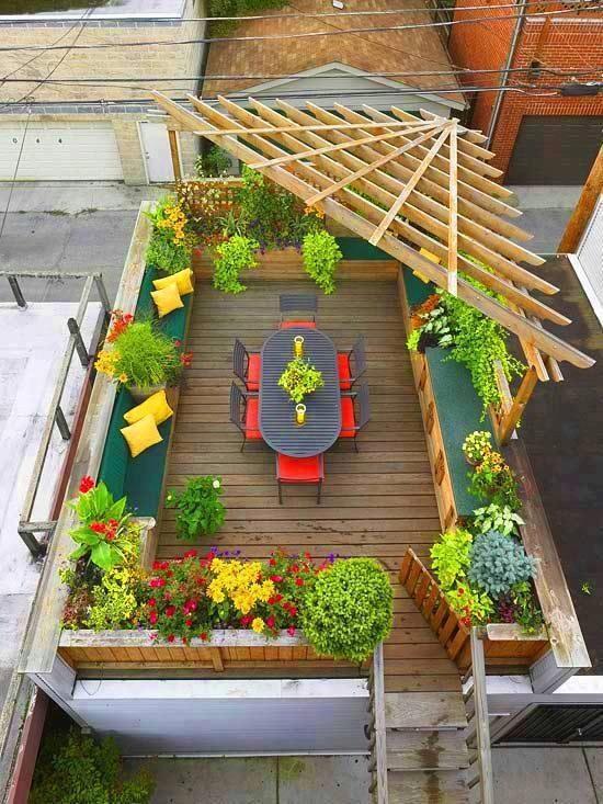Angled Pergola For The Adirondeck Rich Liu Bennesch Rooftop Design Rooftop Patio Rooftop Garden