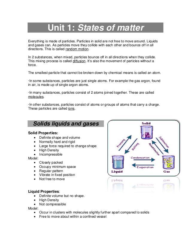 Chemistry worksheets for grade 8 igcse