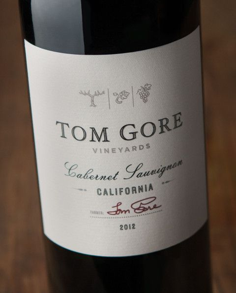 Tom Gore Wine Packaging  Sterling Creativeworks  Our Wine Label
