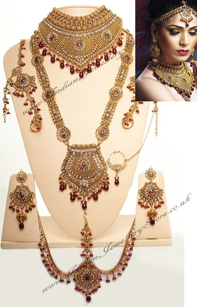 Image result for indian bridal jewellery set Planters Pinterest