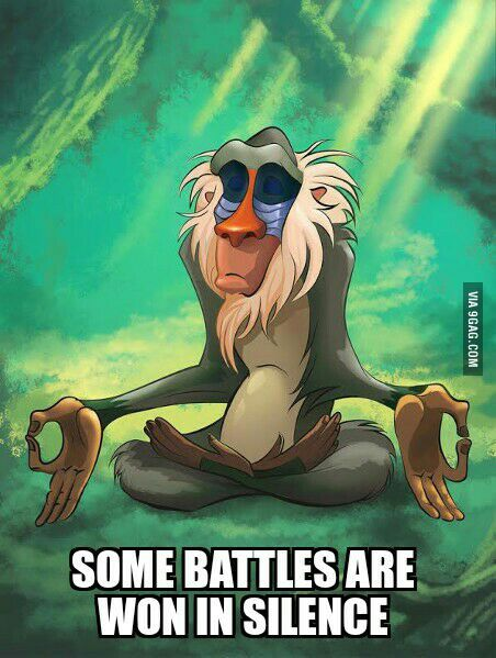 Some battles are won in silence