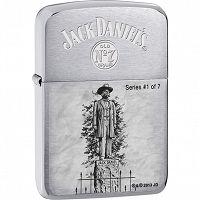 Zapalniczka Zippo Jack Daniels 1941 Replica Brushed Chrome Zippo Lighter Zippo Jack Daniels Zippo