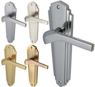 Waldorf 1930\u0027s Art Deco Door Handles - Satin Nickel - The Brassware Company - Architectural Ironmongery | Interior Barn Doors | Pinterest | Door handles ...  sc 1 st  Pinterest & Waldorf 1930\u0027s Art Deco Door Handles - Satin Nickel - The ...