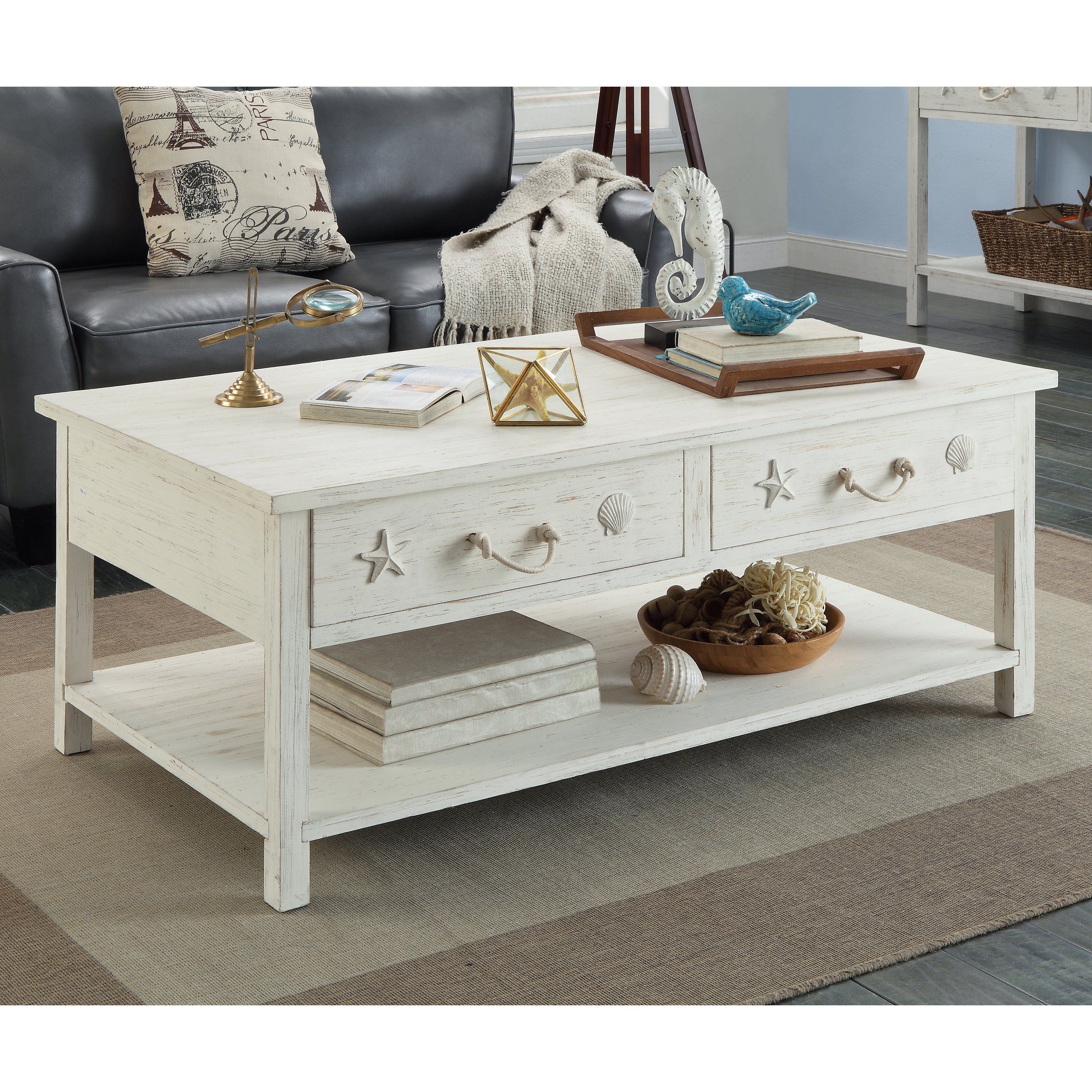 Coast to coast sanibel rectangle cocktail table with