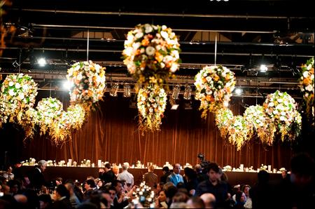 Decoraci n de techos para fiestas flores y luces - Decoracion de techos ...