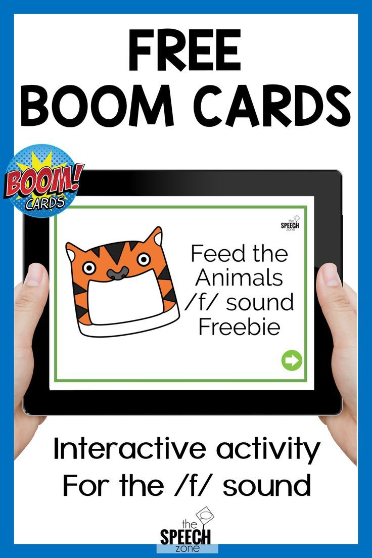 Free boom cards feed the animals f sounds speech