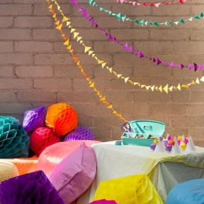 geometric birthday party diy party decor - Diy Party Decorations