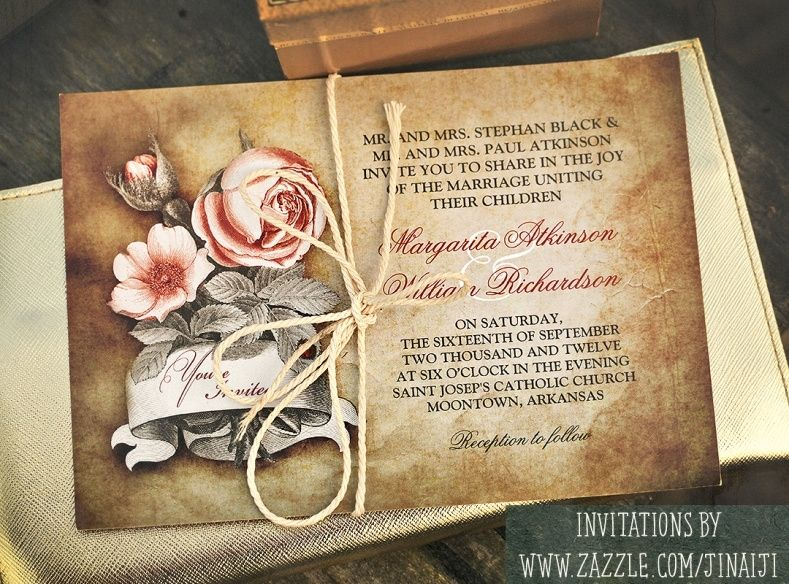 Old Fashioned Wedding Invitations