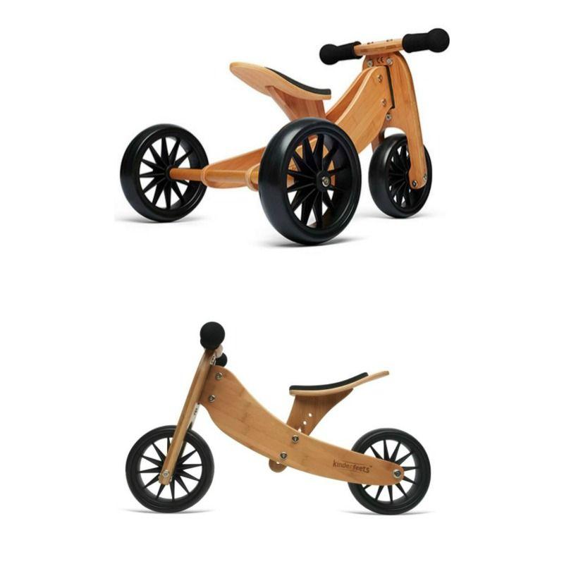 Kinderfeets Tiny Tot 2 In 1 Balance Bike Bamboo Wooden Balance Bike Wooden Bike Balance Bike