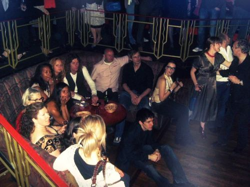 Merlin wrap party.  My favorite part of this is that Colin doesn't even have a seat!