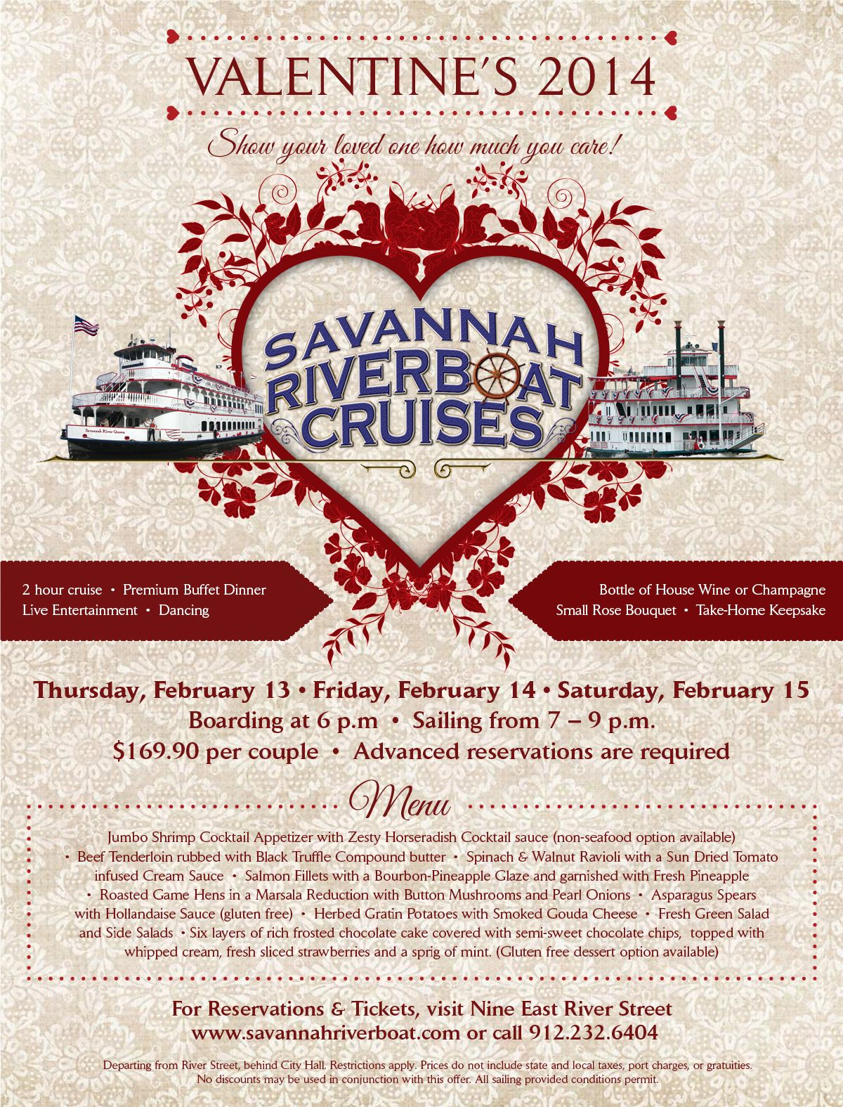 valentines day dinner entertainment cruises