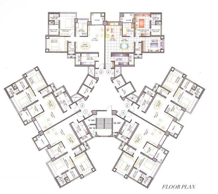 Rezultate Imazhesh Per High Rise Residential Floor Plan Residential Building Plan Residential Architecture Plan Apartment Architecture