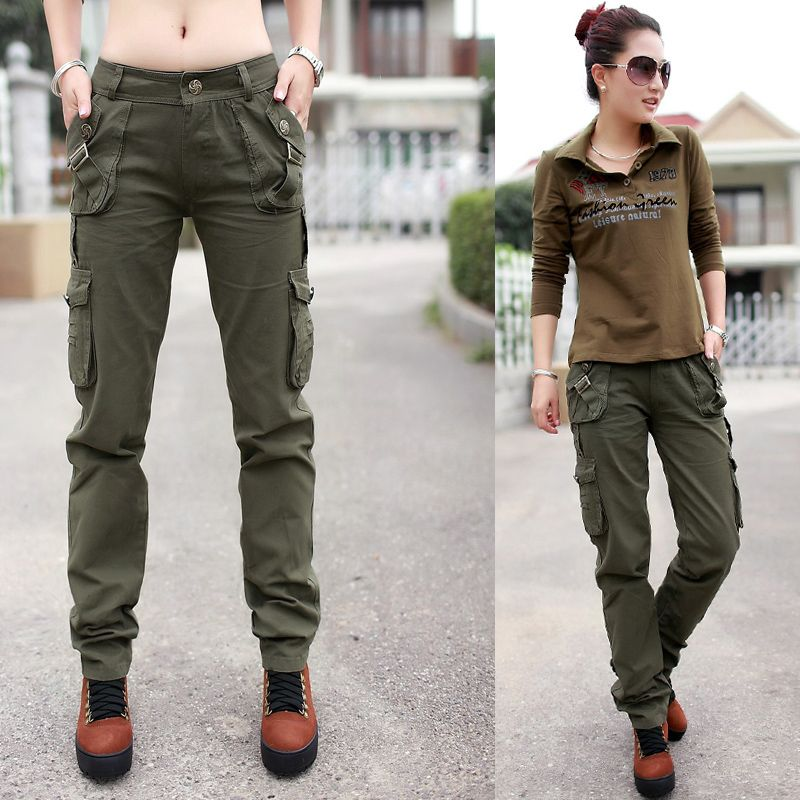 Hot 2013 New Fashion Military Camo Cargos Straight Overalls Multi Pocket Casual Baggy Camouflage Pants Fo Cargo Pants Women Army Cargo Pants Cargo Pants Outfit
