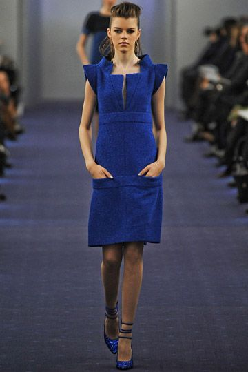 Chanel Couture PFW 2012. Love the colour, texture and cut.