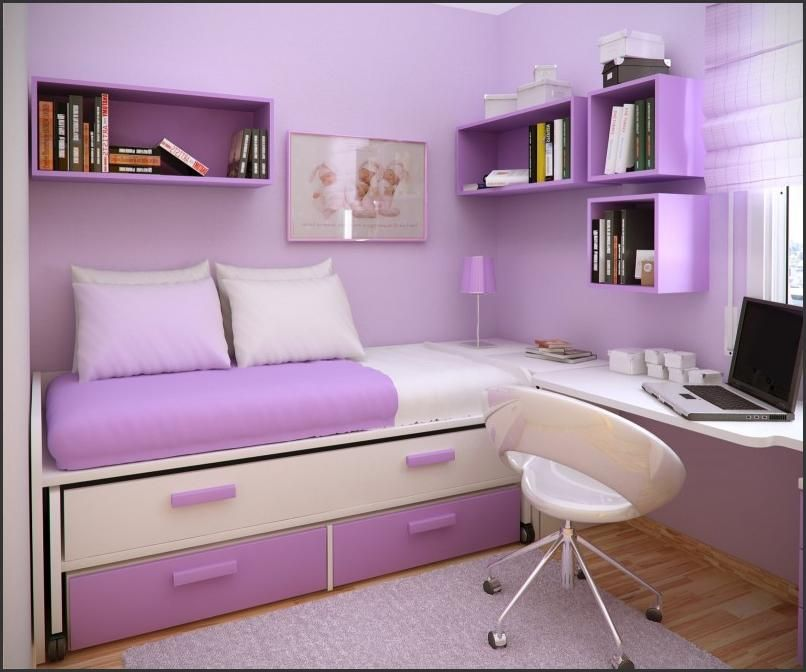 Bedroom Design Ideas Purple Color space saving for kids small bedroom design ideas with : 806x672px