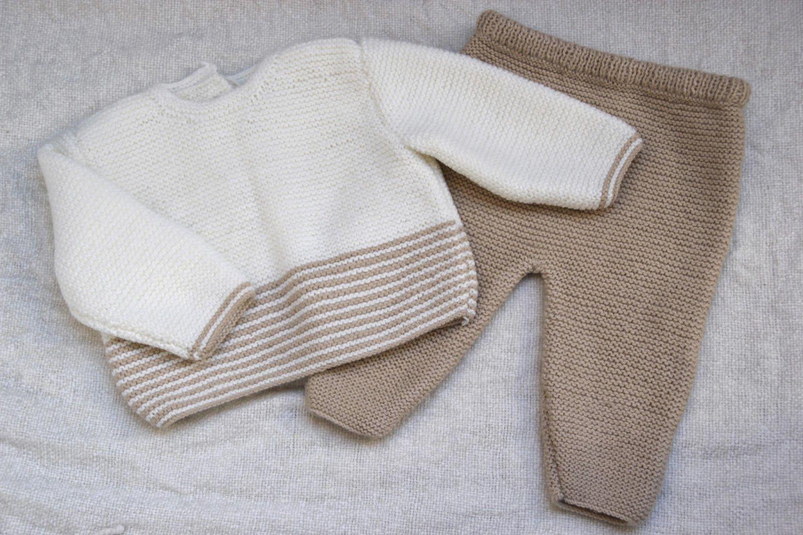 DIY Conjunto bebé: Cómo hacer jersey de lana (patrones gratis ...
