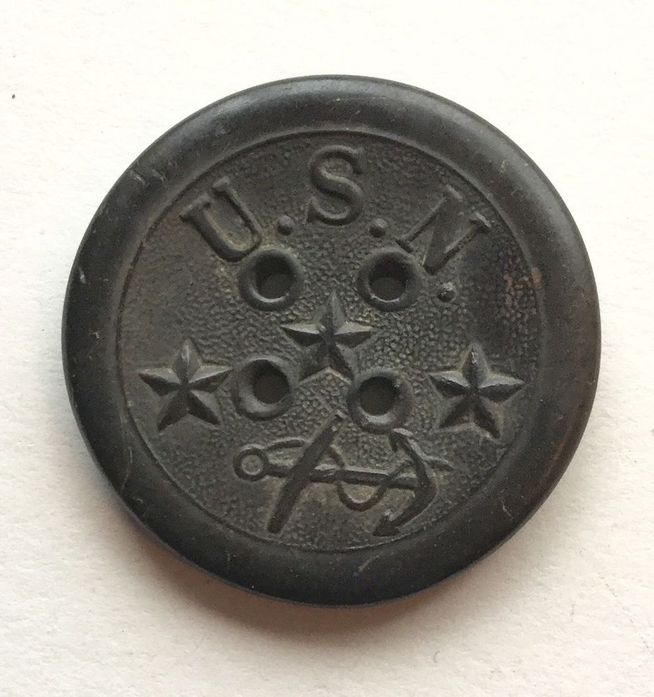 Civil War Button Four Hole - Year of Clean Water