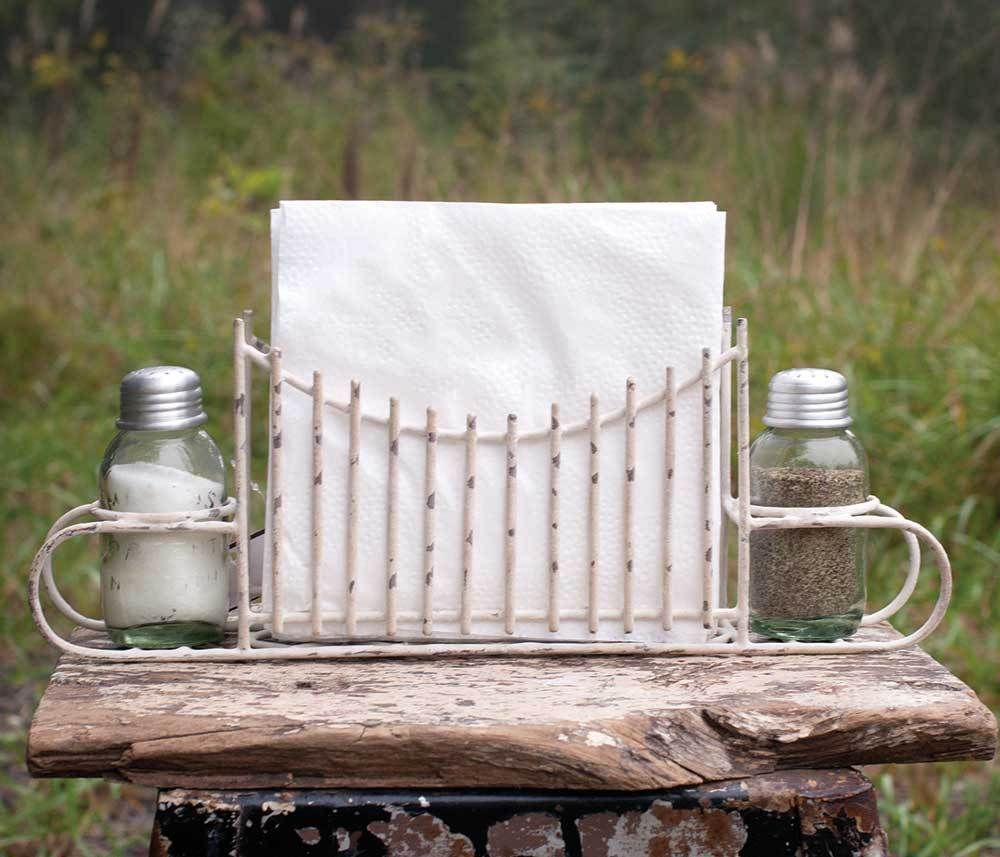 Chicken Wire Salt Pepper and Napkin Caddy - Barn Roof | Garden gate ...