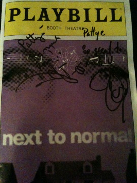 signed playbills :D and playbills in general, and NEXT TO NORMAL and every other broadway show in existence...