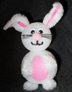 Craft make easter bunnies from chenille stems and for Crafts with styrofoam balls for kids
