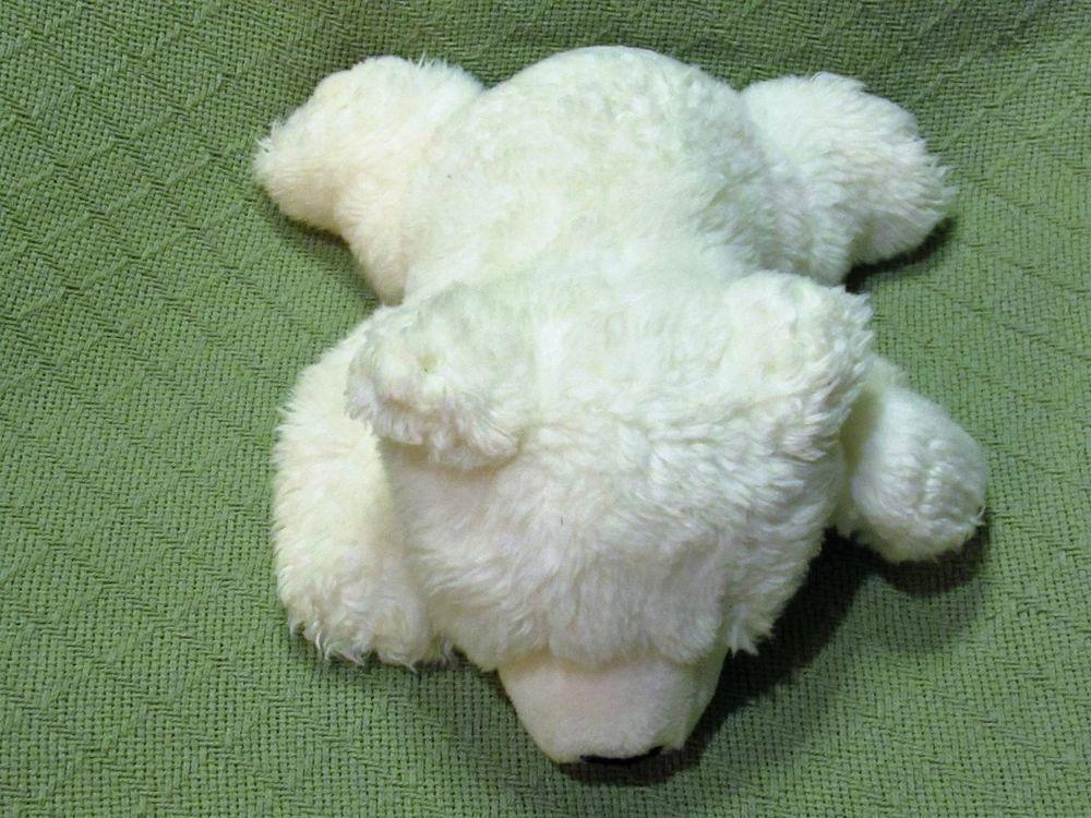 "National Geographic POLAR BEAR Cub Baby White Plush Stuffed Wild Animal 12"" Long #NationalGeographic"