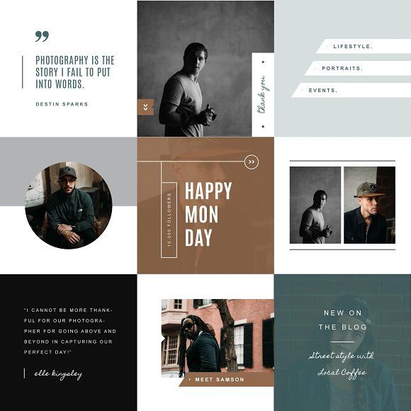 Instagram Templates for Social Media by Design by ...