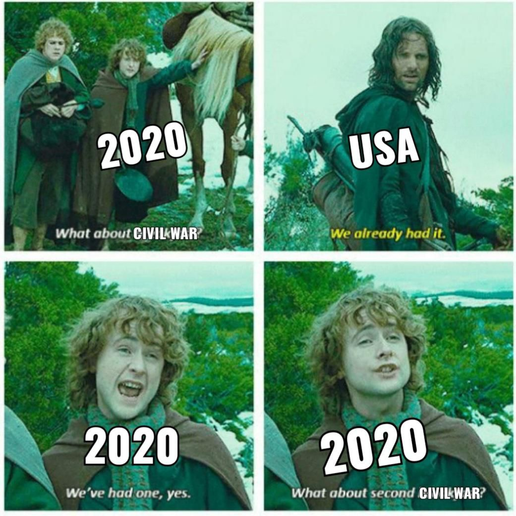 Too Funny But Also Probably True W The Election Coming Up Everyone So Divided Tensions High I Feel Like Lotr Funny Really Funny Memes Stupid Funny Memes