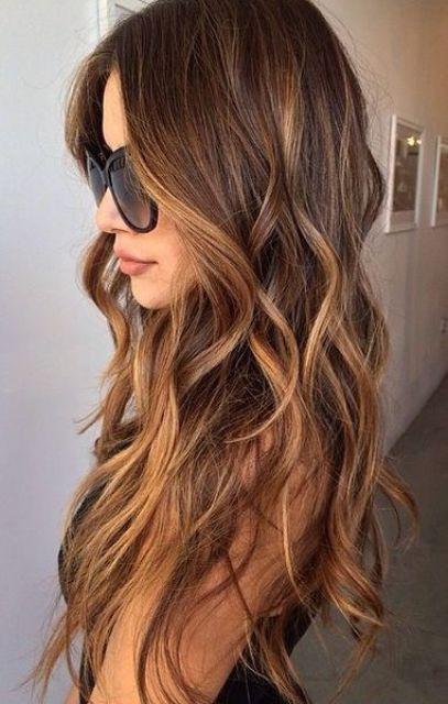 Brunette Hair With Soft Caramel Balayage Hair Color Pinterest