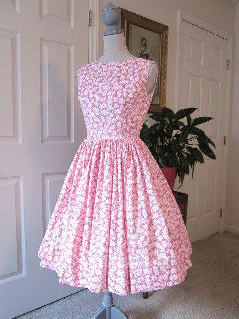 1960s Style Dress - Audrey Hepburn Style Dress - Rockabilly Dress ...