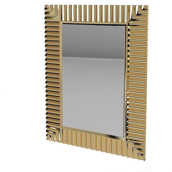 3d model wall mirror art wall mirror art deco modern for Mirror 3d model