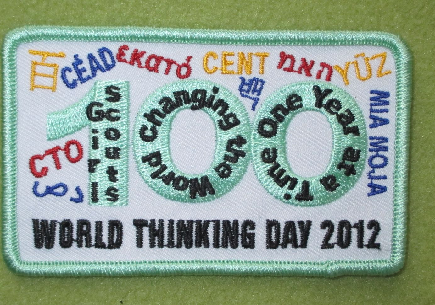 Girl Scouts Central Indiana Fishers Service Unit 100th Anniversary Thinking Day patch. Thank you, Meredith.