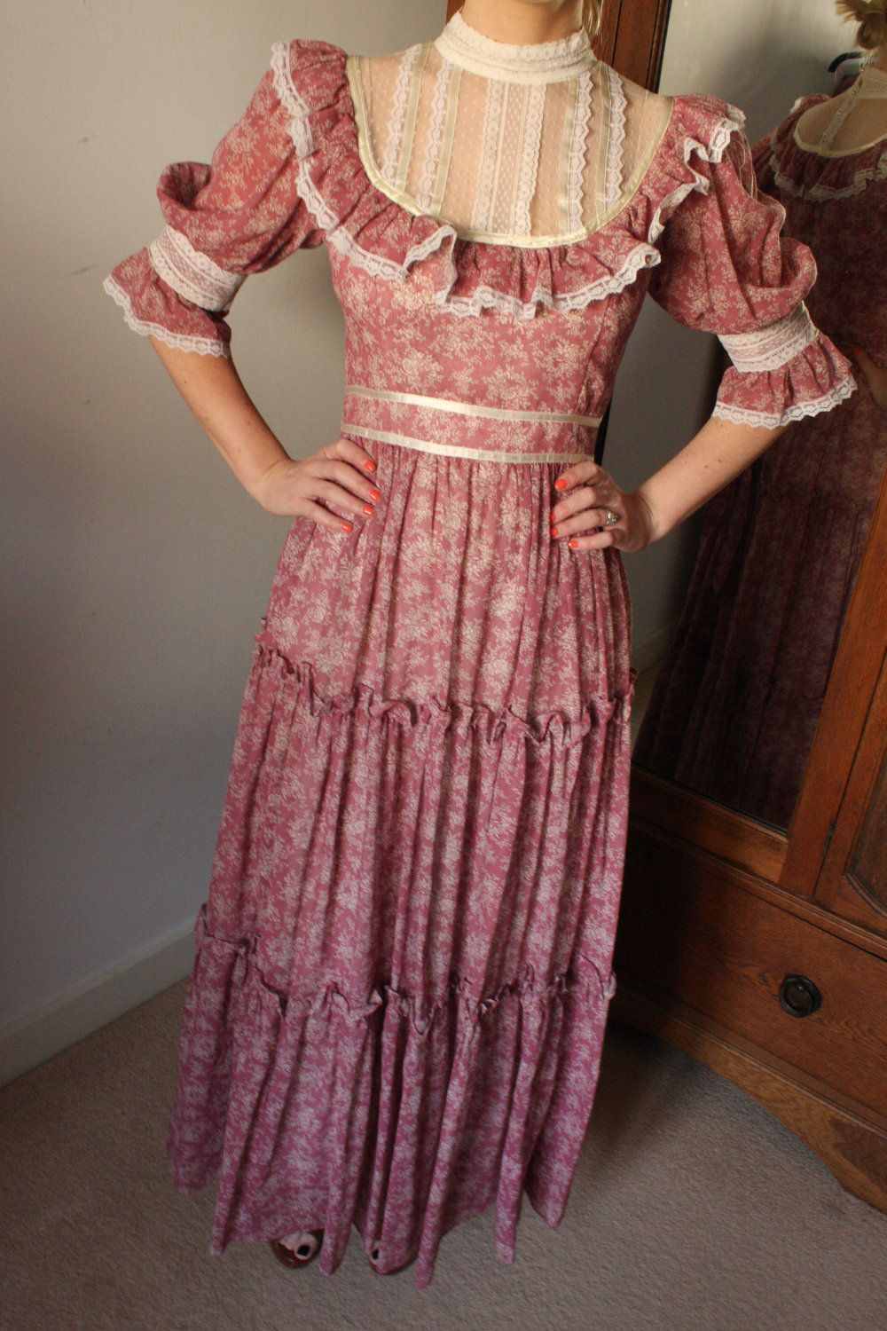 Gunny sack dresses gunne sax by jessica mcclintock vintage 1970s gunny sack dresses gunne sax by jessica mcclintock vintage 1970s prairie style boho ombrellifo Images