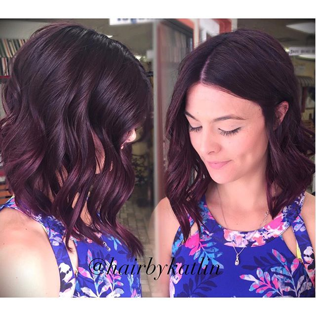 11 Inches Off Her Length Angled Her Bob And Cove Hair Color Plum Redken Hair Color Hair Color Formulas