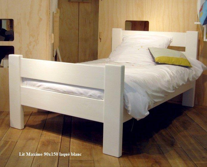 Le lit enfant en bois massif, écologique et robuste à acheter chez - peindre un lit en bois