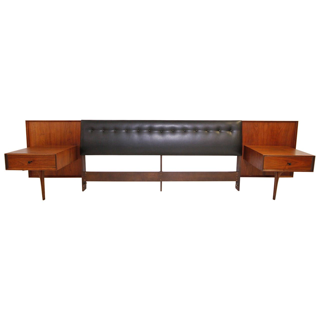 Best Stunning Mid Century Modern King Headboard With Floating 640 x 480