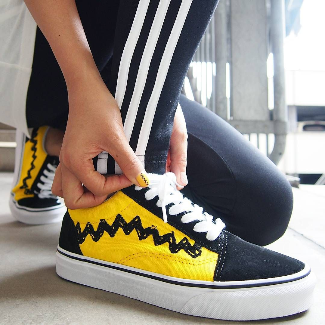 charlie brown vans old skool