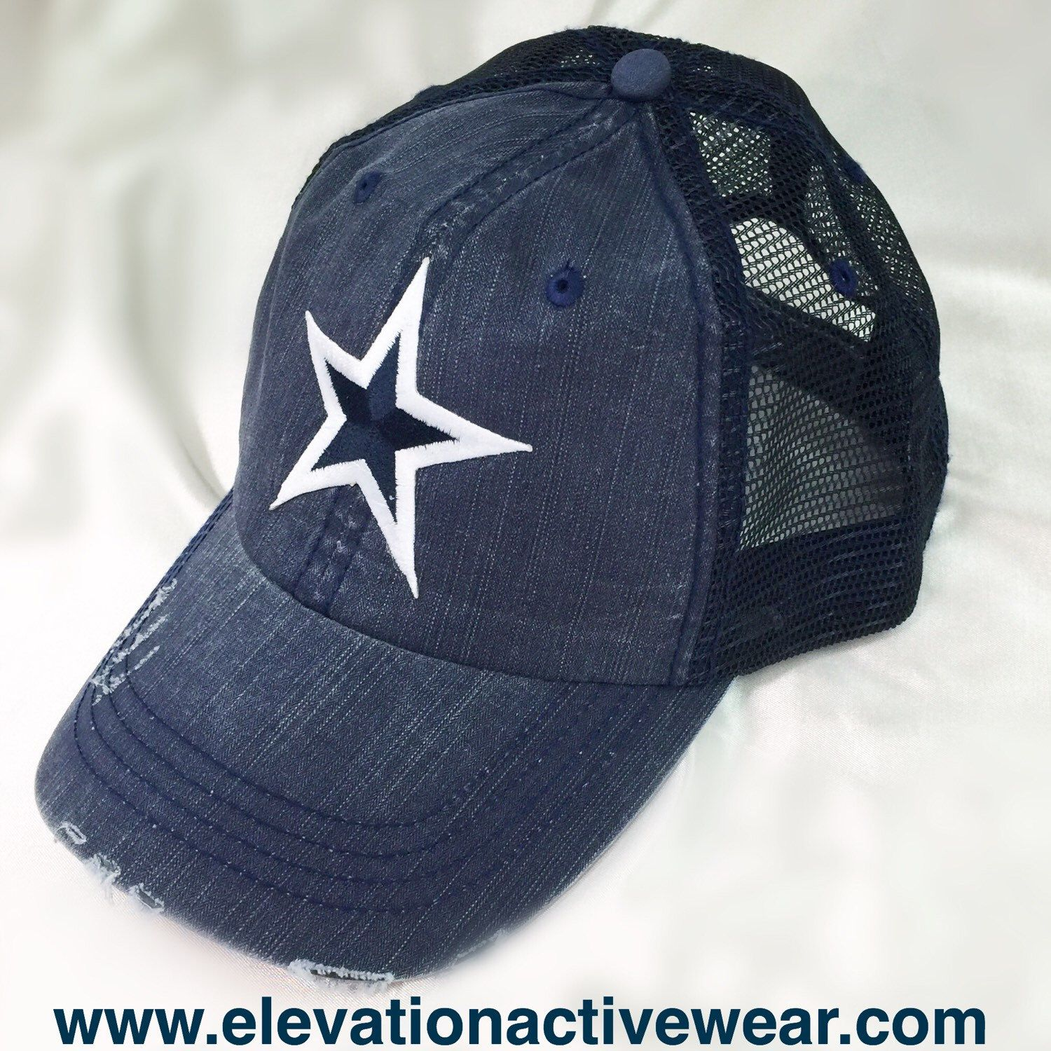 I originally designed this Dallas Cowboys Trucker for our male customers, and it is now our best selling Cowboys cap for girls and boys.   Check it out by clicking this link.  https://www.etsy.com/listing/256777799/dallas-cowboys-trucker-no-bling-blue