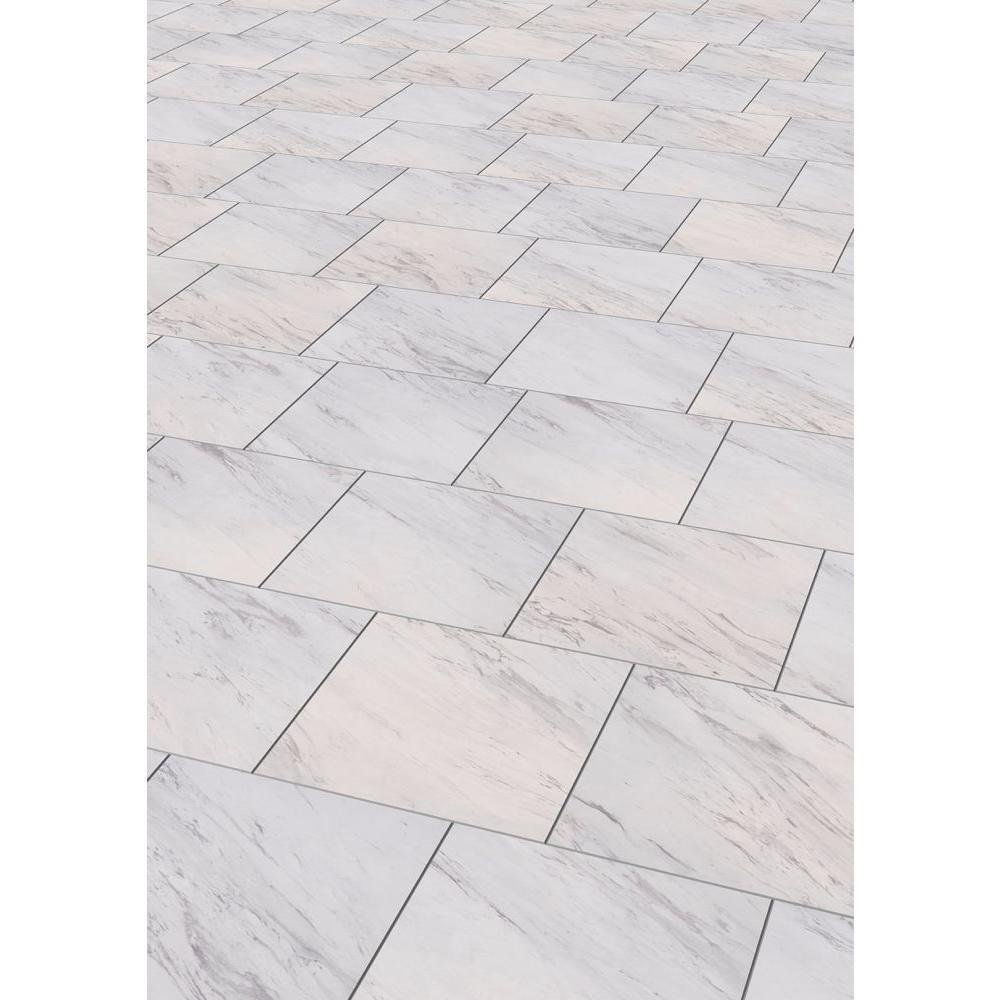 Trafficmaster Carrara Marble 12 In X 12 In Peel And Stick Vinyl Tile 30 Sq Ft Case Ss1212 In 2020 Vinyl Tile Bathroom Marble Vinyl Luxury Vinyl Tile Flooring