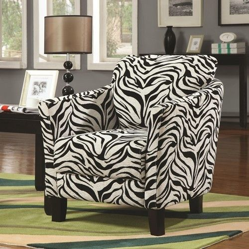 accent seating jungle zebra accent chair w plush seating