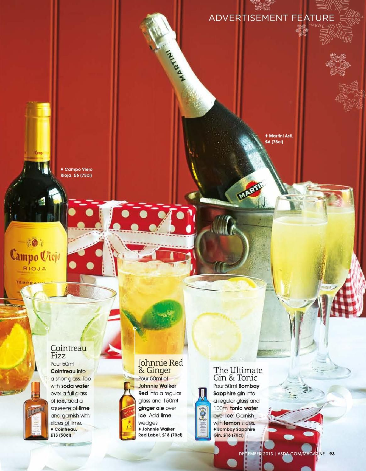 Asda Magazine December 2013 Easy Party Food Fizz Gin And Tonic
