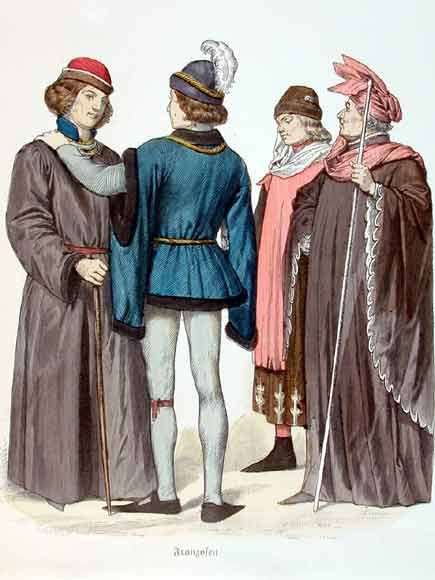 French men's fashion in the 14th century   ⑅✄ Ancient Costumes