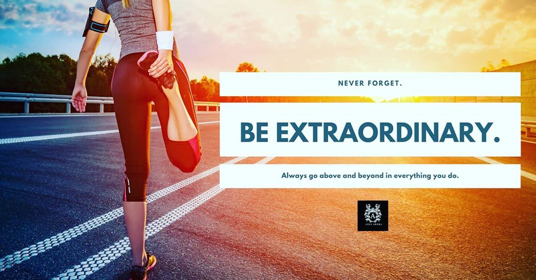 Be Extraordinary! Confidently step into the gym for