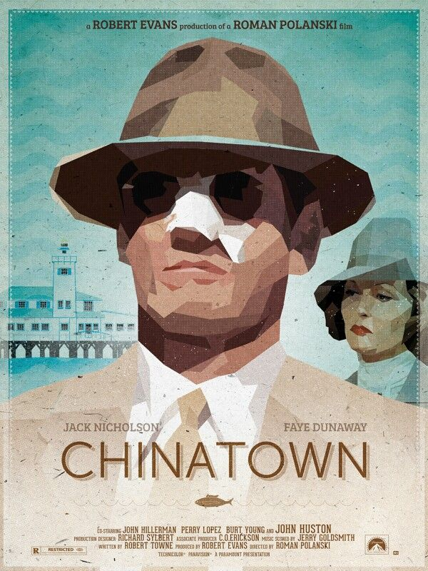 Chinatown Fan Art Poster Movie Poster Art Movie Art Roman Polanski