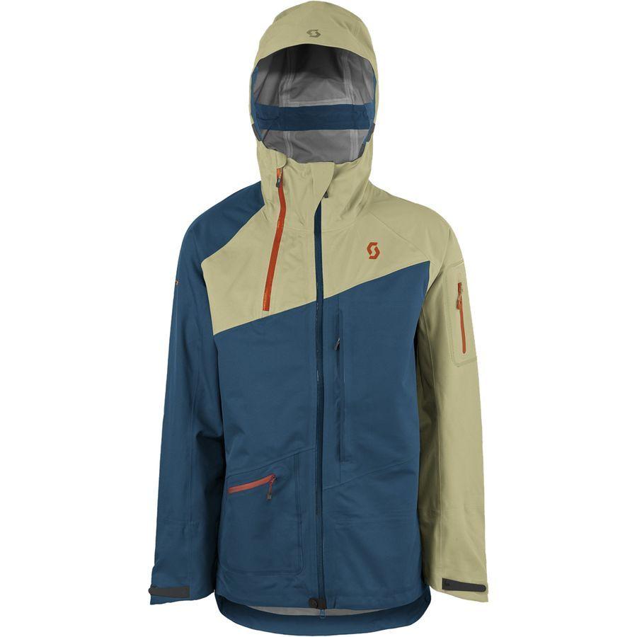 Scott Vertic 3l Jacket Men S Sahara Beige Eclipse Blue Jackets Ski Jacket Mens Athletic Jacket [ 900 x 900 Pixel ]