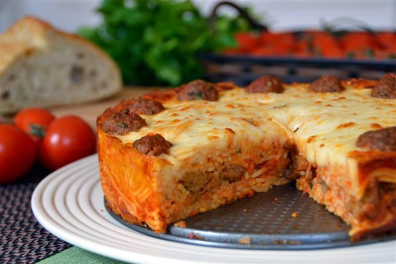 Spaghetti And Meatball Pie Makes One 9 Inch Springform Pan