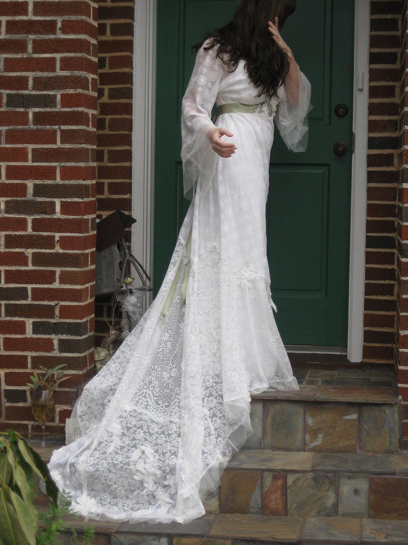 Ethereal lace bohemian wedding gown so pretty bohemian