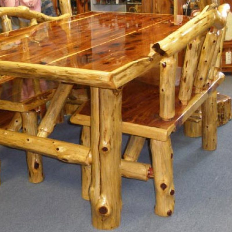 Log Projects: Log Cabin Builder - Pine Log Dining Table