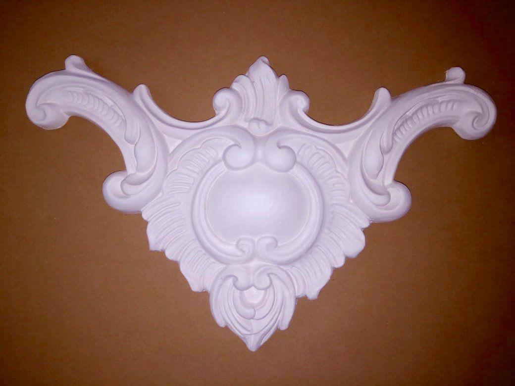 """gips verzierung dekor ornament stuck gips relief stuckdekor - """"pokal"""